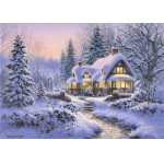 Puzzle Bluebird Winters Blanket Wouldbie Cottage 500 piese