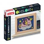 Pixel Art Kawaii 4 planse Design Unicorn Quercetti
