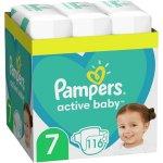 Scutece Pampers Active Baby XXL Box, Marimea 7, 15+ kg, 116 buc