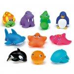 Set 10 jucarii de baie animale marine