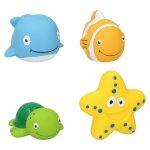 Set 4 jucarii de baie animale marine