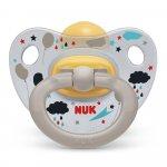 Suzeta Nuk Happy Kids latex M3 transparent/gri 18-36 luni