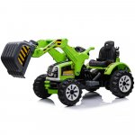 Tractor electric cu cupa pentru copii JS328A verde