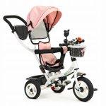 Tricicleta cu sezut rotativ Ecotoys JM-066-9L Roz