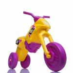 Tricicleta fara pedale Enduro Mini galben-purpuriu