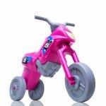 Tricicleta fara pedale Enduro Maxi roz-gri
