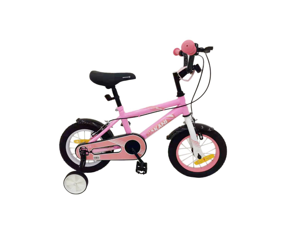 Bicicleta 12 inch KikkaBoo Makani cu roti ajutatoare Windy Pink