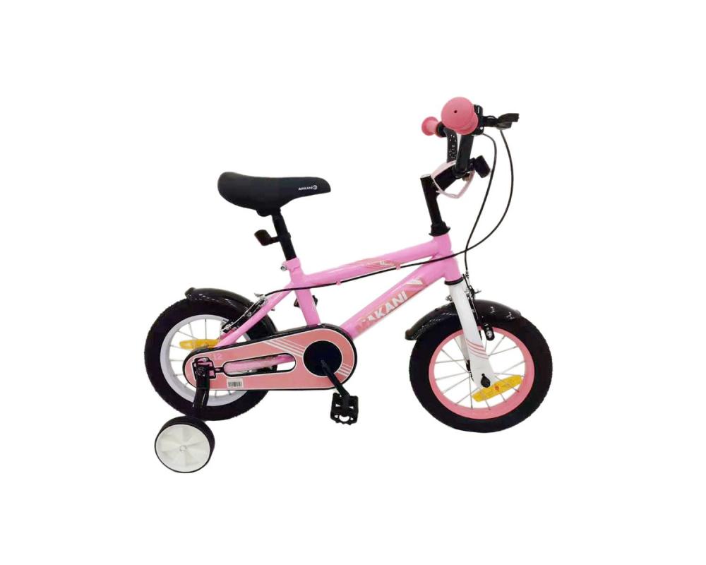 Bicicleta 16 inch KikkaBoo Makani cu roti ajutatoare Windy Pink