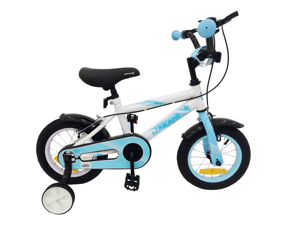 Bicicleta 16 inch KikkaBoo Makani cu roti ajutatoare Windy White