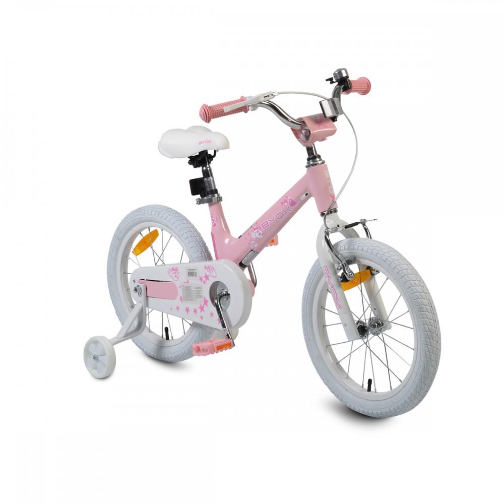 Bicicleta cu roti ajutatoare Byox 16MG Pink