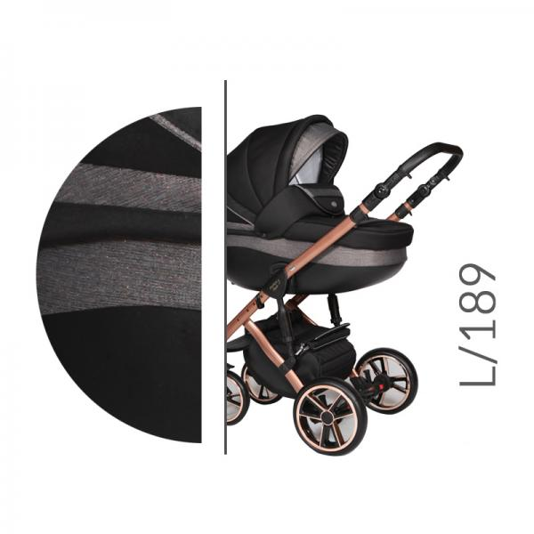 Carucior 3 in 1 Baby Merc Faster 3 Limited Edition L189 Cadru Grey - 3