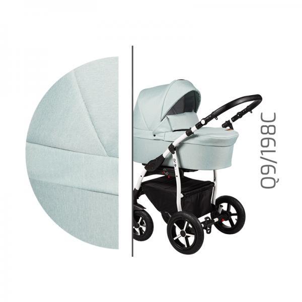 Carucior 3 in 1 Baby Merc Q9 - 198C cadru alb - 3