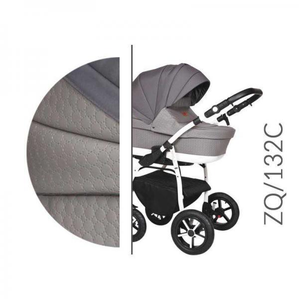 Carucior 3 in 1 Baby Merc Zippy Q - ZQ132C cadru alb - 4