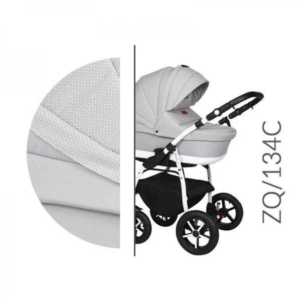 Carucior 3 in 1 Baby Merc Zippy Q - ZQ134C cadru alb - 4