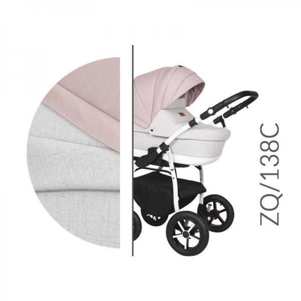 Carucior 3 in 1 Baby Merc Zippy Q - ZQ138C cadru alb - 4