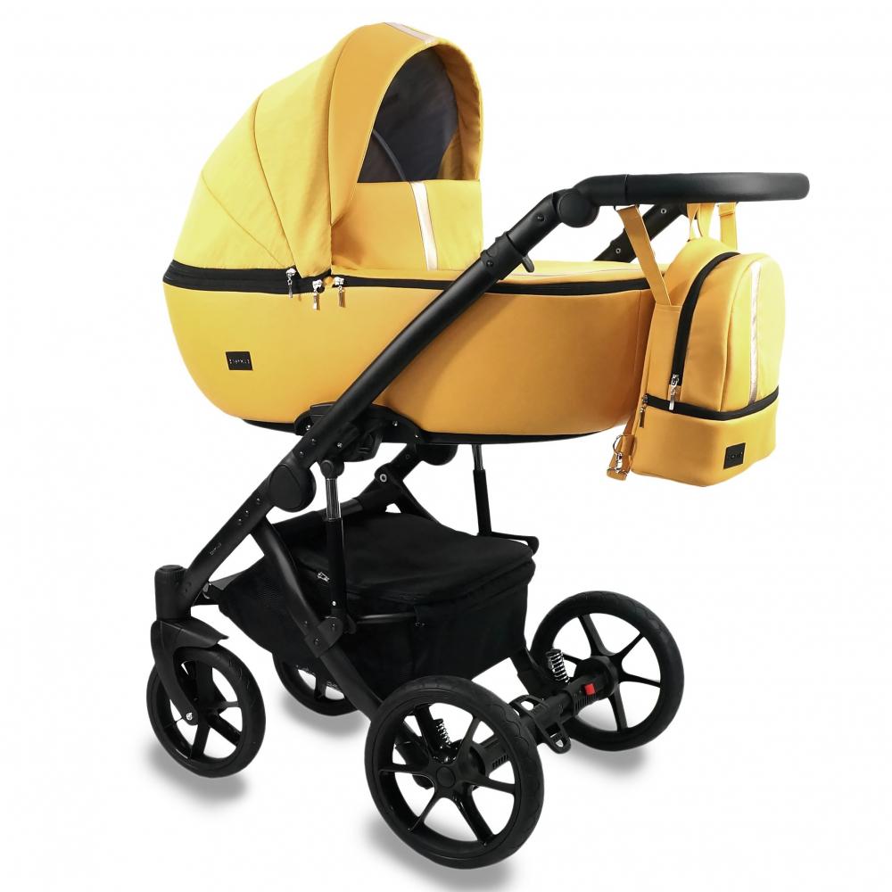 Carucior copii 3 in 1 reversibil 0-36 luni Bexa Air Yellow