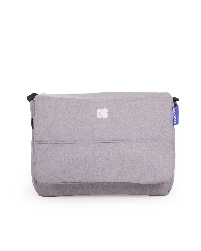 Carucior cu husa picioare si geanta mamici Airy Grey Melange - 10