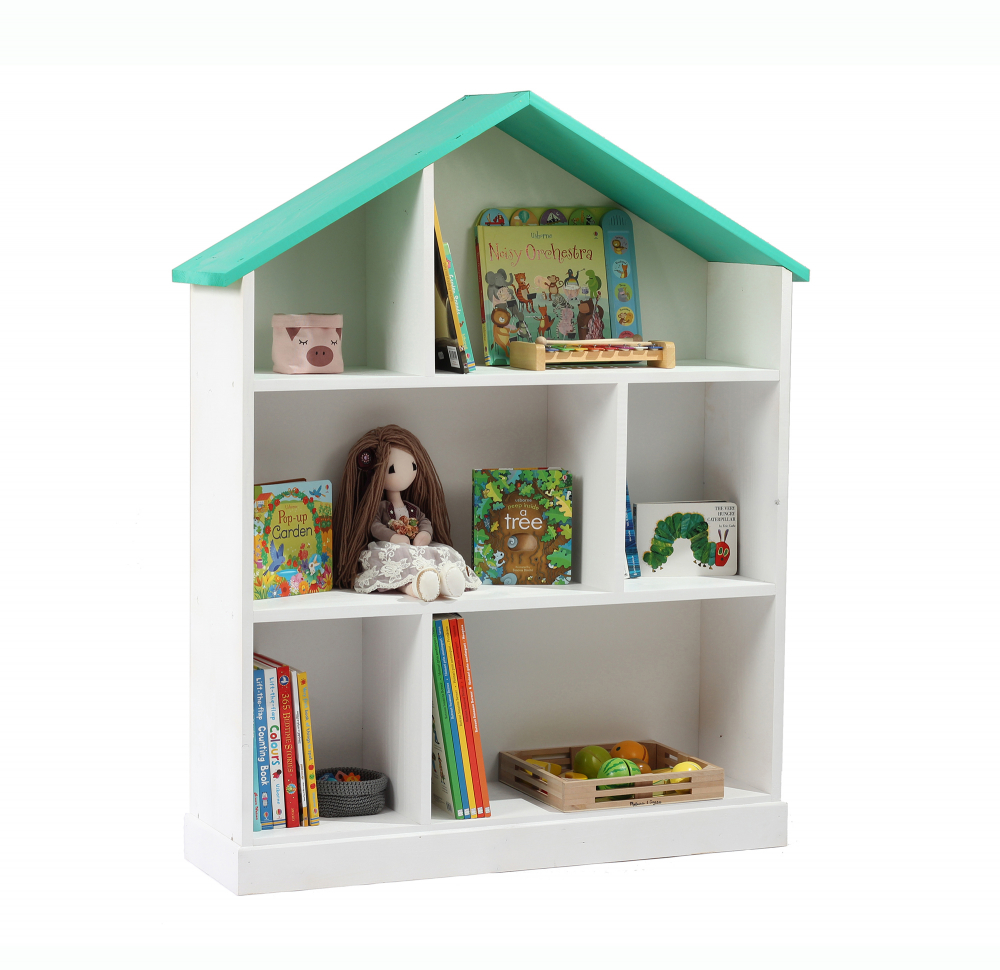 Casuta biblioteca din lemn BookHouse Tiffany 130 x 96 x 30 cm