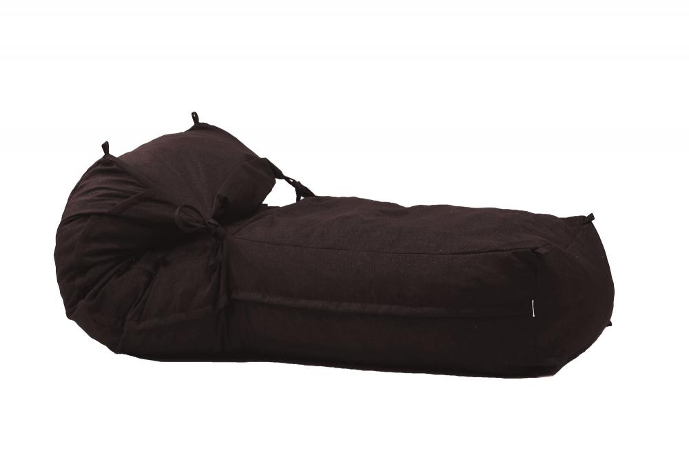 Fotoliu Pufrelax Yoga XL Dark Chocolate Gama Premium Textil umplut cu fulgi de burete memory mix