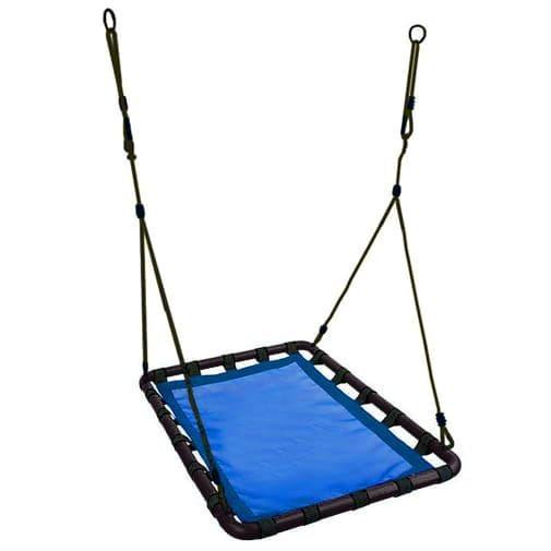 Leagan suspendat tip cuib dreptunghiular mare 105 x 75 cm Ecotoys MIS1005 albastru