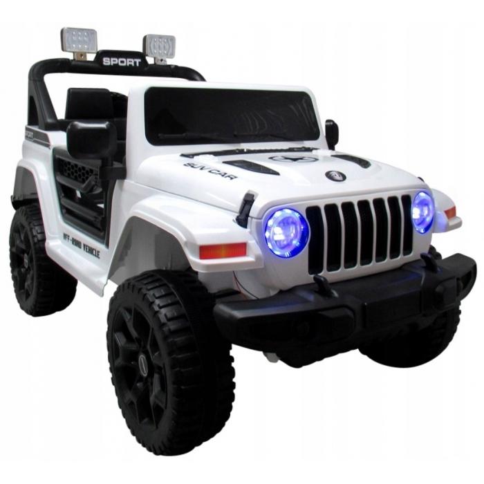 Masinuta electrica cu telecomanda si functie de balansare Jeep X10 TS-159 R-Sport alb