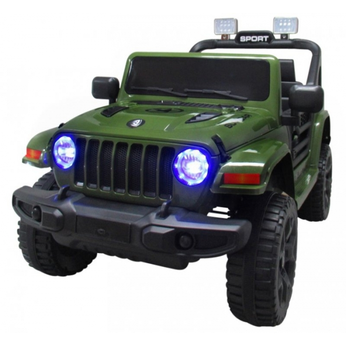Masinuta electrica cu telecomanda si functie de balansare Jeep X10 TS-159 R-Sport verde - 3