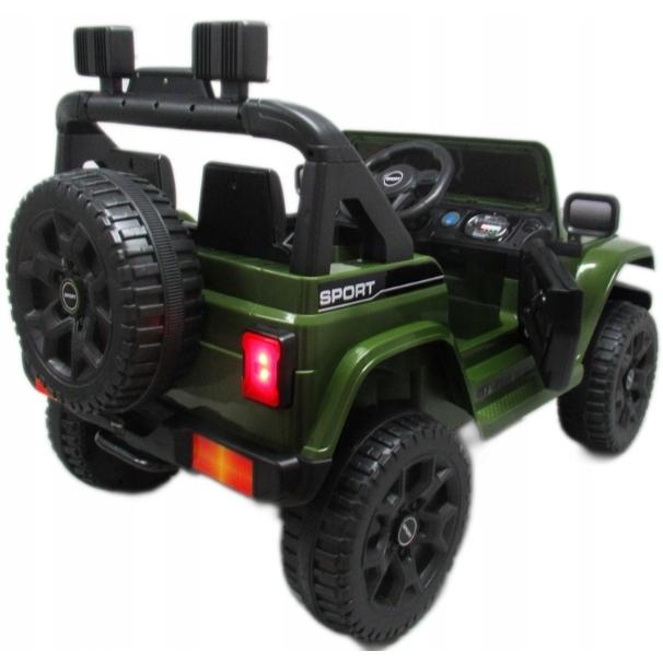 Masinuta electrica cu telecomanda si functie de balansare Jeep X10 TS-159 R-Sport verde