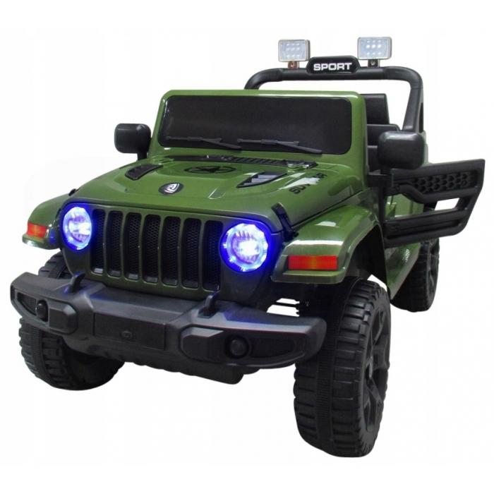 Masinuta electrica cu telecomanda si functie de balansare Jeep X10 TS-159 R-Sport verde - 1