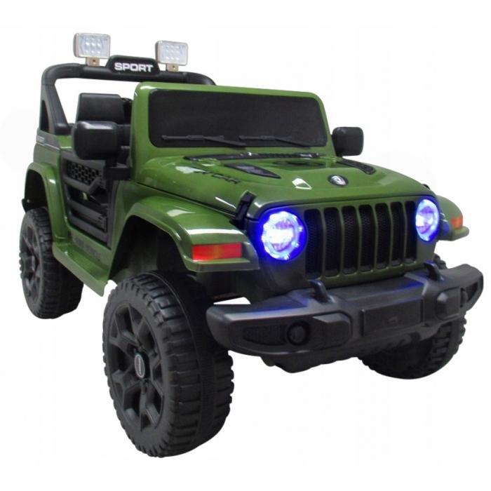 Masinuta electrica cu telecomanda si functie de balansare Jeep X10 TS-159 R-Sport verde - 2