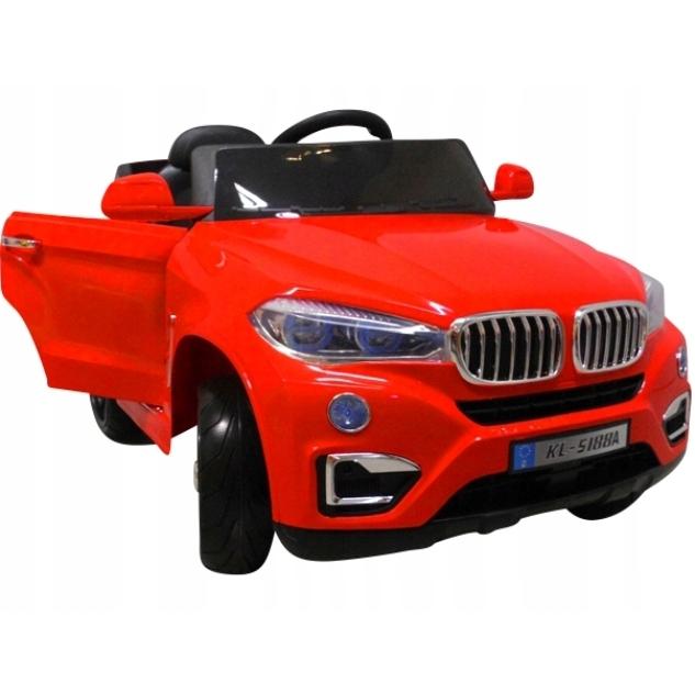 Masinuta electrica cu telecomanda si roti din spuma EVA Cabrio B12 KL-5188 R-Sport rosu