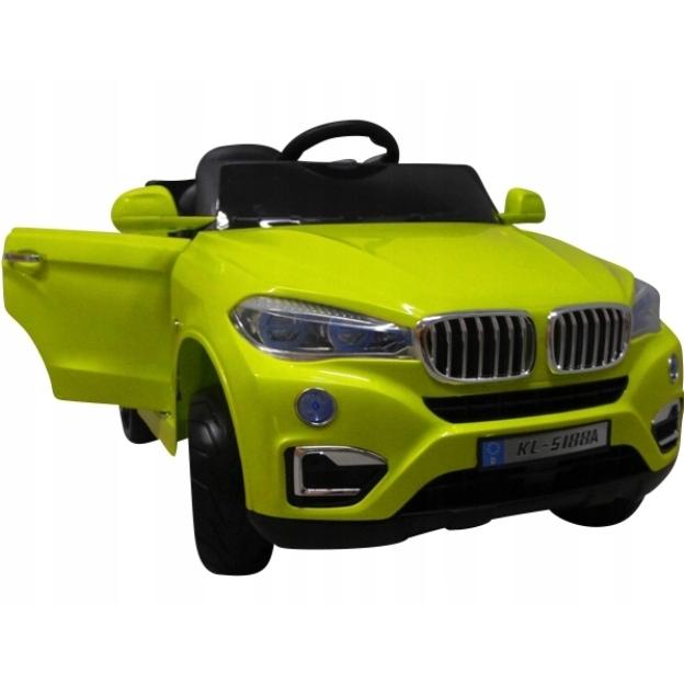 Masinuta electrica cu telecomanda si roti din spuma EVA Cabrio B12 KL-5188 R-Sport verde