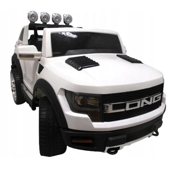 Masinuta electrica cu telecomanda si roti din spuma EVA Cabrio LONG BBH-1388 R-Sport alb