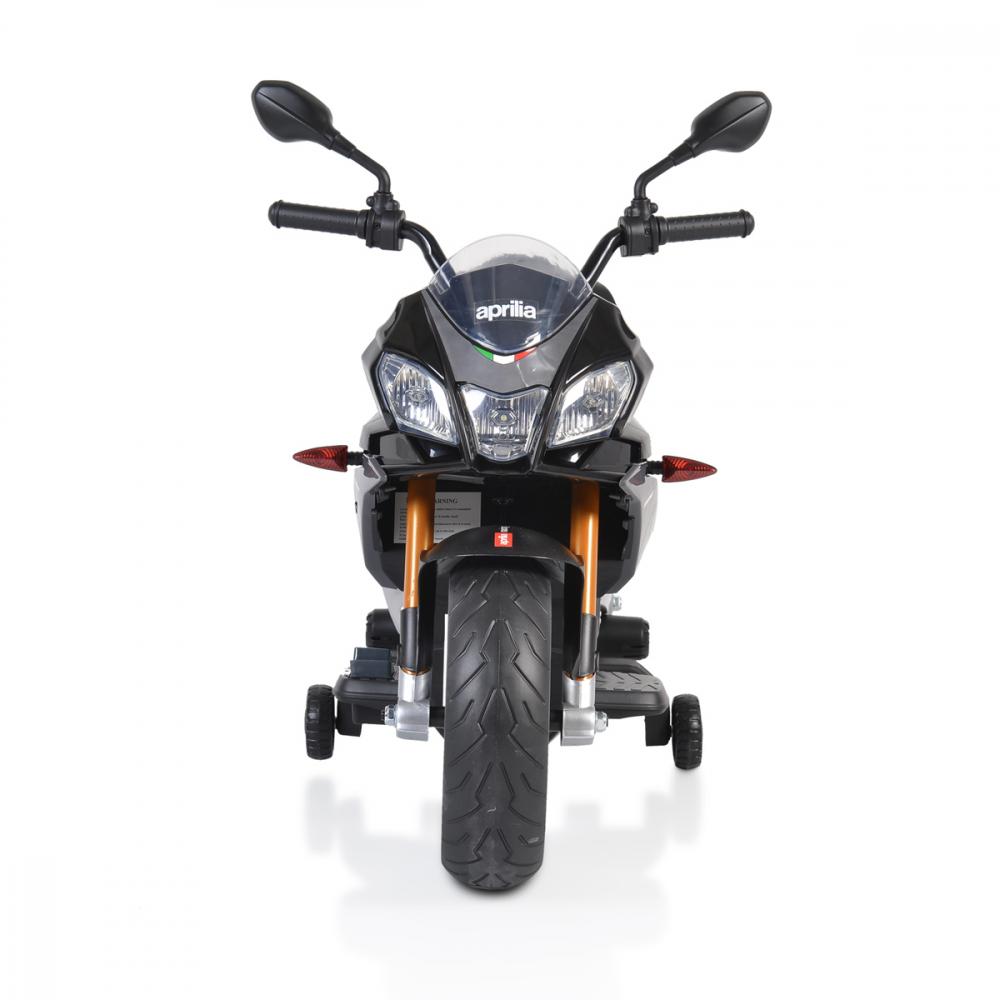 Motocicleta electrica 12V cu roti EVA Aprilia Tuono Black - 5
