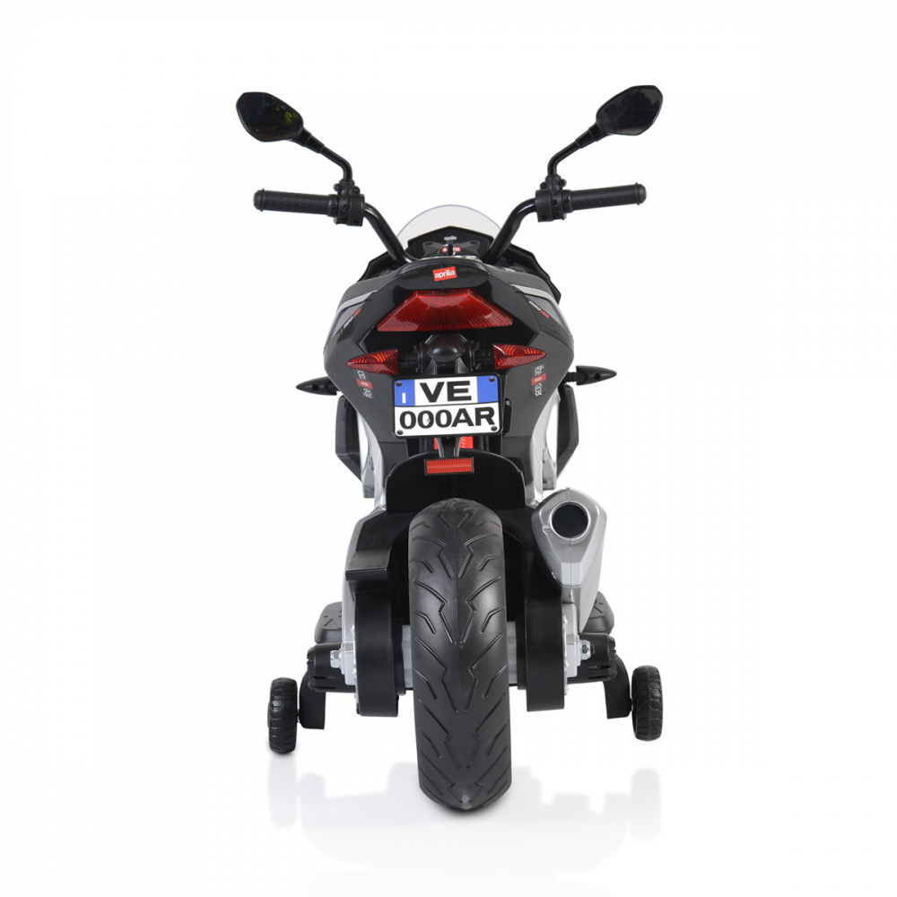 Motocicleta electrica 12V cu roti EVA Aprilia Tuono Black - 8