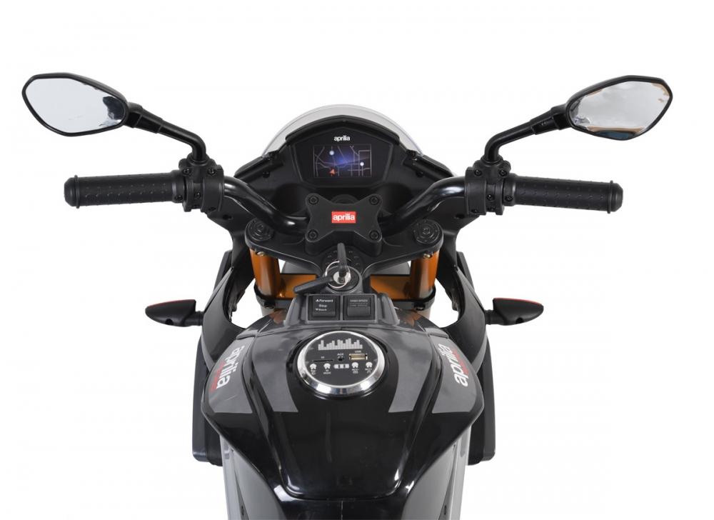 Motocicleta electrica 12V cu roti EVA Aprilia Tuono Red