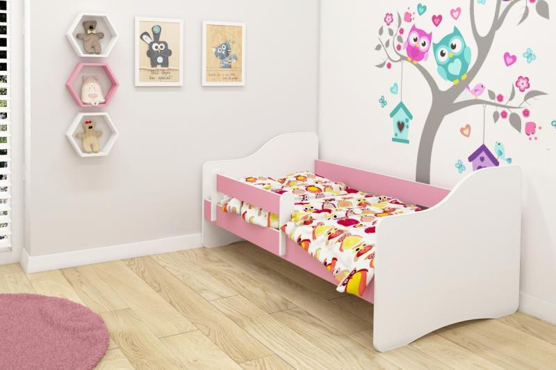 Patut tineret III Happy White-Pink 140x70