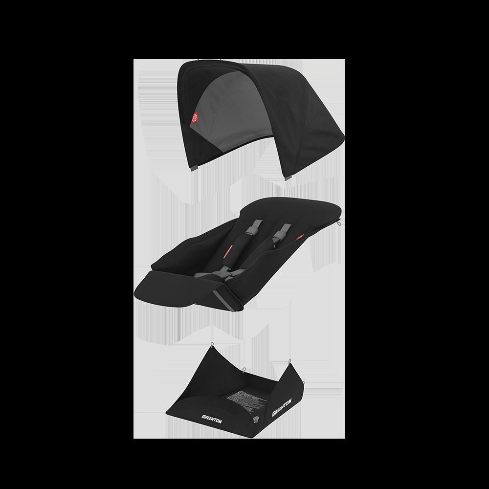 Set materiale textile Greentom Reversible Black