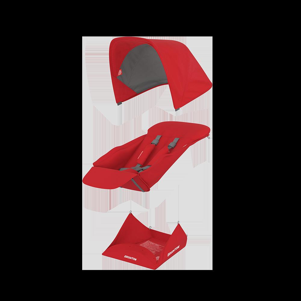 Set materiale textile Greentom Reversible Red