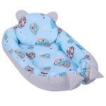 Baby Nest Multifunctional cu doua tipuri de material Velvet Balloons