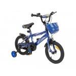 Bicicleta 14 inch KikkaBoo Makani cu roti ajutatoare Diablo Blue