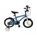 Bicicleta 16 inch KikkaBoo Makani cu roti ajutatoare Windy Blue