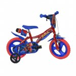 Bicicleta Dino Bikes Spiderman 12 inch albastra pentru copii