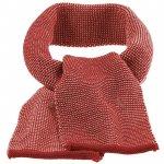 Fular din lana merinos tricotata Disana Bordeaux/Rose Melange
