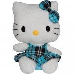 Jucarie din plus Hello Kitty Blue Kilt 15 cm