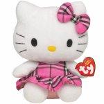 Jucarie din plus Hello Kitty Pink Kilt 14 cm