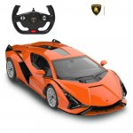 Masinuta cu telecomanda Lamborghini Sian portocaliu scara 1:14