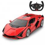 Masinuta cu telecomanda Lamborghini Sian rosu scara 1:14