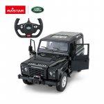 Masinuta cu telecomanda Land Rover Defender negru scara 1:14