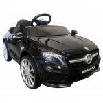 Masinuta electrica cu telecomanda, roti EVA si scaun piele Mercedes GLA45 negru