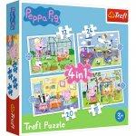Puzzle Trefl 4 in 1 Peppa Pig